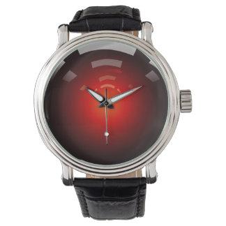 Shiny Red Wristwatch