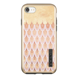 Shiny Salmon Pink Glitter Mermaid Fish Scales Incipio DualPro Shine iPhone 8/7 Case