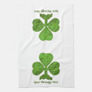 Shiny Shamrock St. Patrick's Day Personalized Tea Towel