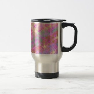 Shiny Shimmery Abstract Digital Art Stainless Steel Travel Mug