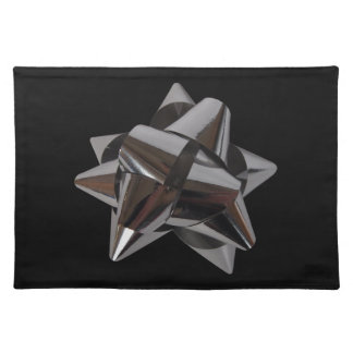 Shiny Silver Bow Placemat