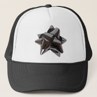 Shiny Silver Bow Trucker Hat