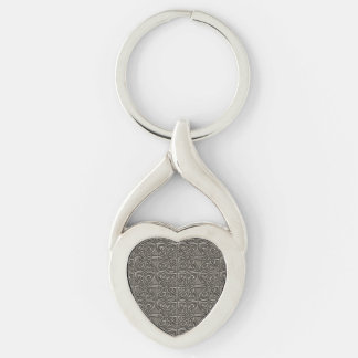 Shiny Silver Connected Ovals Celtic Pattern Key Ring