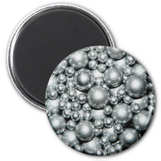 Shiny Silver Metal Beads 6 Cm Round Magnet