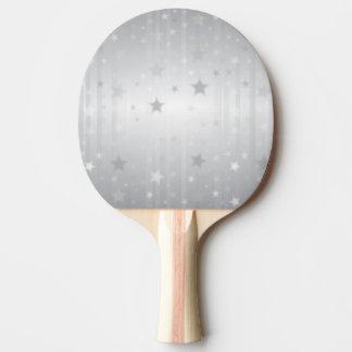 Shiny Silver Stars Ping Pong Paddle