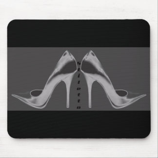 Shiny Silver Stiletto Art Mouse Pad