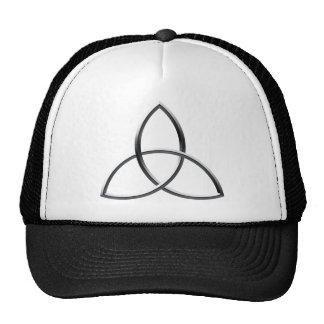 Shiny Silver Triquetra Mesh Hats