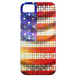 Shiny Sparkling Beaded Sequin American Flag Case iPhone 5 Case