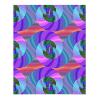 Shiny spiral pattern 11.5 cm x 14 cm flyer
