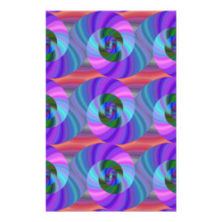 Shiny spiral pattern 14 cm x 21.5 cm flyer