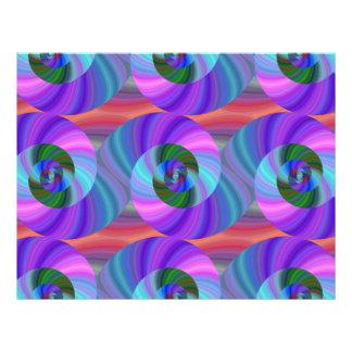 Shiny spiral pattern 21.5 cm x 28 cm flyer