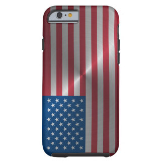 Shiny Steel USA Flag Tough iPhone 6 Case