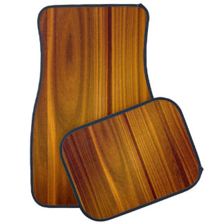 SHINY STRIATED WOOD PANEL FLOOR MAT