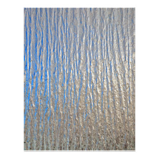Shiny surface texture with grey and blue 21.5 cm x 28 cm flyer