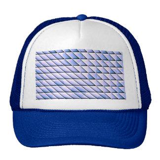 shiny tiles blue mesh hats