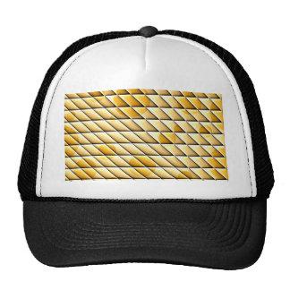 shiny tiles golden hat