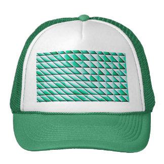 shiny tiles green mesh hats