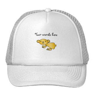 Shiny yellow koala mesh hats
