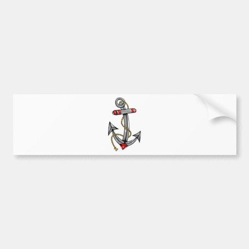 Ship Anchor Tattoo Bumper Stickers