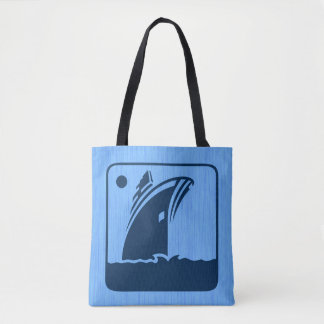 Ship and Compass N Graphic Tote Bag