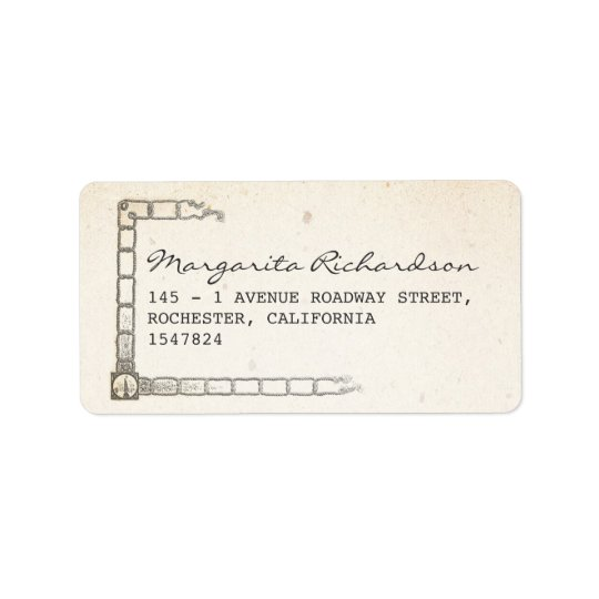 ship and ropes address labels