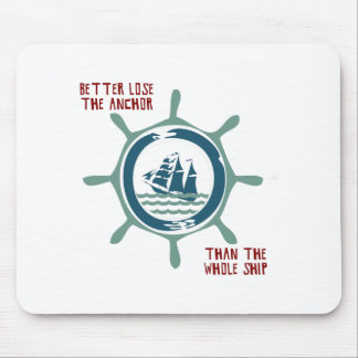Ship And Wheel Mouse Pad