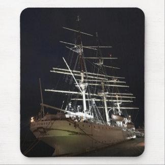 Ship at night mouse pad