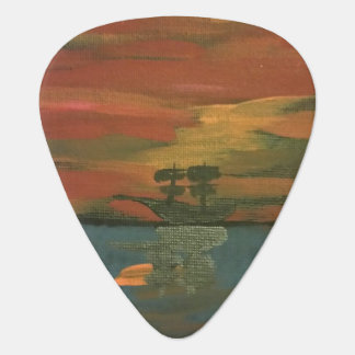 Ship at sea at sunset pic plectrum