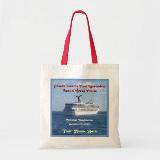 Ship at Sea Custom Group Cruise Budget Tote Bag