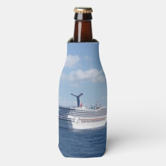 Ship at Sea Fun Bottle Cooler
