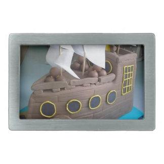 Ship cake 1 rectangular belt buckle