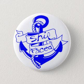 Ship Faced Anchor  facebook.com/USAPatriotGraphics 6 Cm Round Badge