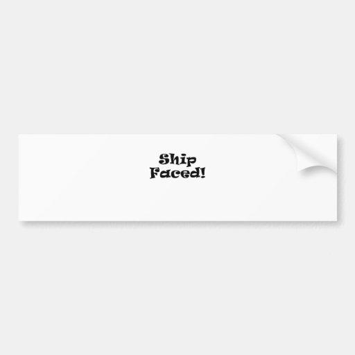 Ship Faced Bumper Stickers