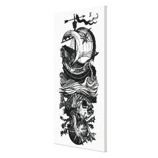 Ship Fish Sword Canvas Art Print