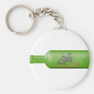 Ship in a Bottle Key Ring