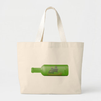Ship in a Bottle Large Tote Bag