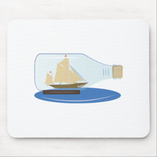 Ship in a Bottle Mouse Pads