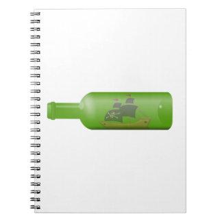 Ship in a bottle spiral notebook