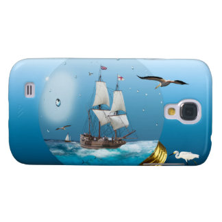 Ship in a light bulb galaxy s4 case