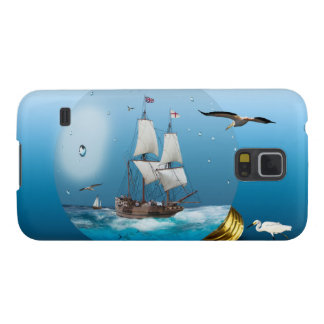 Ship in a light bulb galaxy s5 case