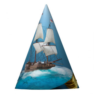 Ship in a light bulb party hat