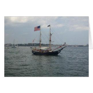 Ship in Boston Harbor Greeting Card