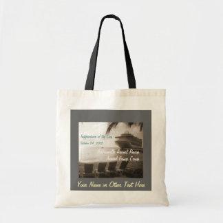 Ship in Sepia Custom Cruise Bag Budget Tote Bag