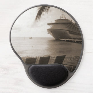 Ship in Sepia Gel Mouse Pad