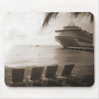 Ship in Sepia Mousepad
