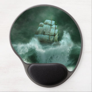 Ship in Storm Gel Mouse Pad