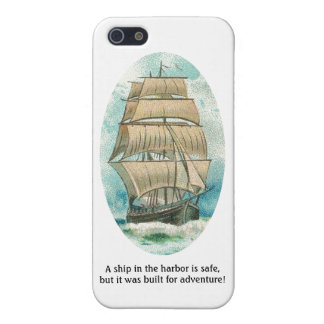 Ship in the Harbor is Safe but Built for Adventure iPhone 5 Cover