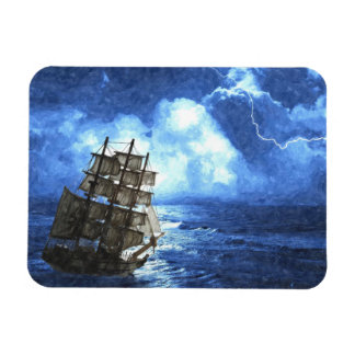 """Ship In The Storm 3""""x4"""" Photo Magnet"""
