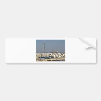 Ship Leaving Varna Bumper Sticker