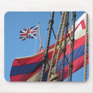 Ship Masts at Historic Jamestowne Mouse Pad